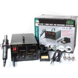 HRV6653 Estación soldadura  y desoldadura SMD profesional Proskit SS989 , 6653