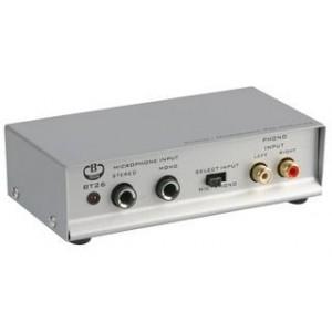 BT26 Preamplificador estéreo para giradiscos con cápsula magnética (previo Phono). Permite conectar su giradiscos de vinilo al h
