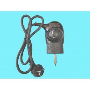 49JT0012 CABLE CON CONECTOR Y ENCHUFE COMPLETO PARA PLANCHA S DE ASAR JATA MODELOS GR555 BORNA CORTA (55MM) , GR558 , GR556, GR5