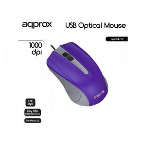 APPOMLITEP Ratón óptico con diseño ergonómico con cable USB hasta 1000 dpi. Plug  Play.