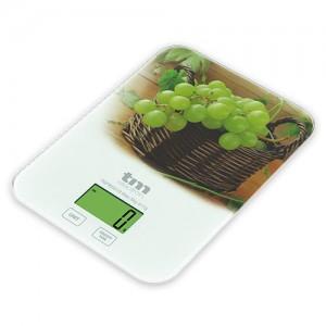 TMPBS019 Bascula cocina digital Tm Electron , diseño uvas