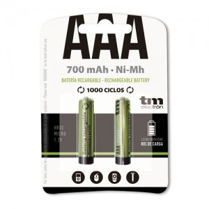 TMVH-AAA700H PACK 2 BATERIAS RECARGABLES AAA 700MA - PRECARGADAS