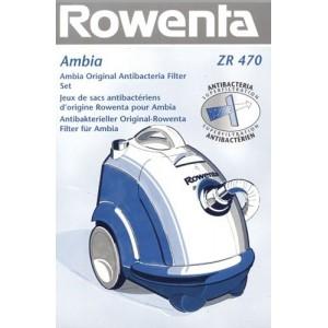 ZR470 Bolsa aspiradora Rowenta Ambia , recambio original. 6 bolsa + 1 filtro