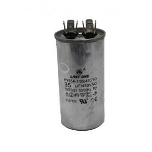 12AG6035 Condensador arranque (blanco) para Aire Acondicionado 35MFD; Diametro 45mm, altura 90mm