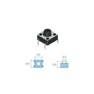 SW65 Micropulsador Tamaño: 6,0x6,0mm, Altura total 5,0mm sw065