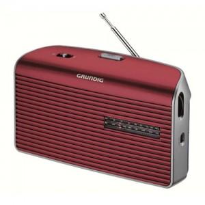 MUSICBOY60RE Radio AM - FM Grundig. Puede usarla con pilas o enchufada a la red electrica