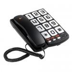 TS6650 TELEFONO TECLAS GRANDES FIJO , COMPATIBLE CON AUDIFONOS. IDEAL PARA PERSONAS MAYORES