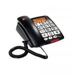 TELEFONO SOBREMESA TECLAS Y PANTALLA GRANDES COMPATIBLE CON AUDIFONOS. IDEAL PARA PERSONAS MAYORES