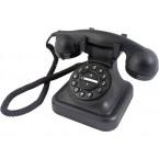 TELF038 Telefono retro negro Graham Bell con timbre de campana