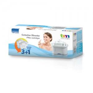 TMFIL004 Filtros Jarra Purificadora agua compatibles con Maxtra ( 3+1 , 4 filtros )