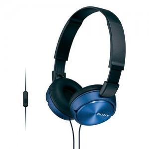 MDRZX310APL Auriculares de diadema para exteriores con microfono color azul Sony.