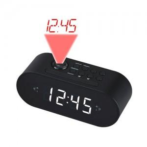 CRP717B RADIO RELOJ DOBLE ALARMA CON PROYECTOR TECHO 180º NEGRO