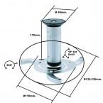 SOP-VIDEOP-1 FERSAY-SOP-VIDEOP-1 Soporte techo video proyector  hasta 10 KG ajustable Minimo 8 CM Maximo 17 cm