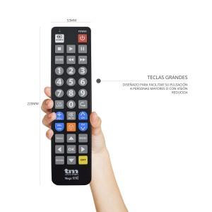 TMURC502 Mando 5 en 1 teclas grandes. Para Samsung, Philips, Sony, Lg , Panasonic. No necesita programacion