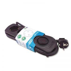 TMUAD203BK Regleta 3 salidas con interruptor negro 250V 16A Cable 1,3m TM Electron.
