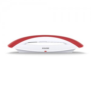 ALCATELSMILERD Teléfono inalambrico Smile rojo/blanco de Alcatel.