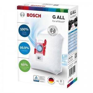 17000940 BOLSAS ASPIRADOR TIPO G ALL . 4 bolsas de recambio  , igual a 468383 , para Bosch y Siemens VS59E80/09