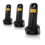 TELEFONO TRIO PHILIPS INALAMBRICO D1203B