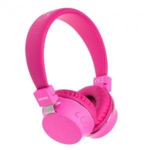 BTH205PK Auricular bluetooth inalambrico color rosa Denver