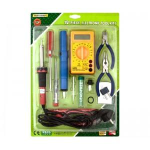 HRV7574 Kit herramientas para estudiantes FP I y FP II con Multimetro, soldador, desoldador, soporte , destornillador y buscapol