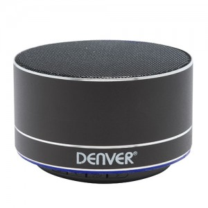 BTS32BMK2 ALTAVOZ BLUETOOTH 3W ILUMINADO DENVER , COLOR NEGRO
