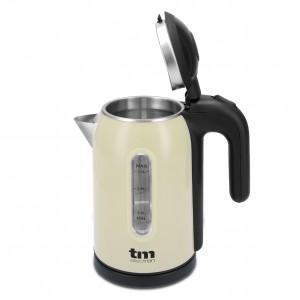 TMPKT010C Hervidora de agua 1 litro color crema  con 1500 w de potencia. Interior inox.