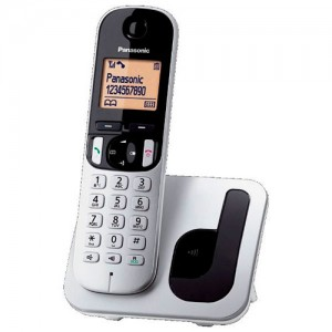 KXTGC210S TELEFONO INALAMBRICO PANASONIC CON MANOS LIBRES PLATA