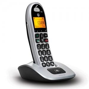 MOTOCD301 TELEFONO INALAMBRICO MOTOROLA MANOS LIBRES y TECLAS MUY FACILES DE USAR. PANTALLA CON NUMEROS MUY GRANDES