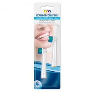 TMBH112 Recambio generico cepillo dental 2 unidades compatible Oral B