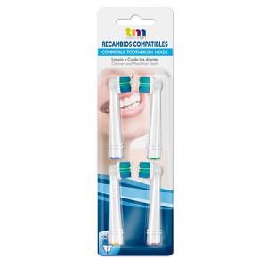 TMBH114 Recambio generico cepillo dental 4 unidades compatible Oral B