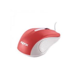 APPOMLITER Ratón óptico con diseño ergonómico con cable USB hasta 1000 dpi. Plug  Play.