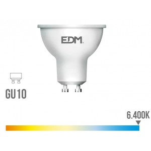 35244 98326 LAMPARA LED 5W DICROICA GU10 LUZ FRIA 6400K