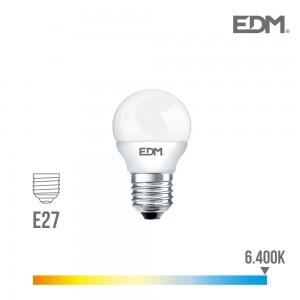 35462 98320 BOMBILLA LED 5W E27 LUZ FRIA ESFERICA 6400K (canon raee led incluido)