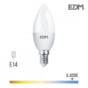 98328 Bombilla vela led E14 5 w luz fria 6400 k ,canon raee inclu