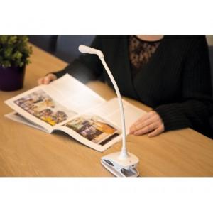 Lampara  LED recargable para sobremesa y pinza