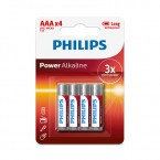 LR03PH 4 X PILA LR03 PHILIPS ALCALINA (AAA)  Blister 4 unidades