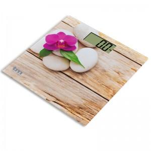 TMPBS014 Bascula baño diseño Zen madera y flor