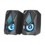 SK402 Strike me Altavoces Gaming Estereo 2.0 con Luces RGB, 2 x 3 W , 4O, Conector de 3,5 mm Audio, USB alimentacion