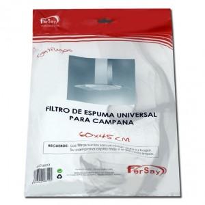 41CU0013 FILTRO DE ESPUMA CAMPANA EXTRACTORA, UNIVERSAL, 60 x 45cm