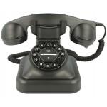 TELEFONO RETRO NEGRO GRAHAM BELL CON TIMBRE DE CAMPANA